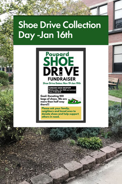 Shoe Drive Collection Day -Jan 16th