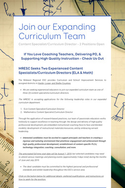 Join our Expanding Curriculum Team