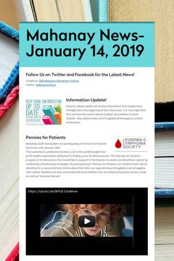 Mahanay News- January 14, 2019