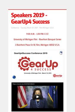 Speakers 2019 - GearUp4 Success