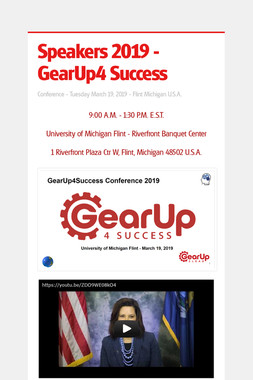 Speakers 2019 - GearUp4 Success