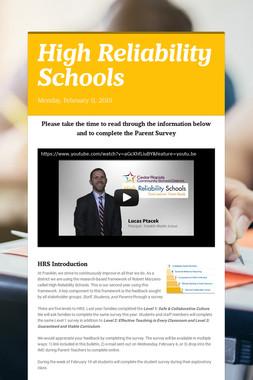 High Reliability Schools