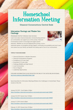 Homeschool Information Meeting
