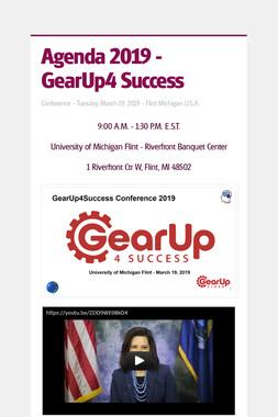 Agenda 2019 - GearUp4 Success