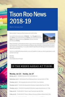 Tison Roo News 2018-19