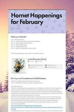 Hornet Happenings for February