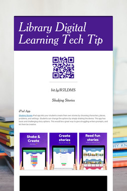 Library Digital Learning Tech Tip