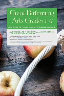 Grant Performing Arts Grades 1-6