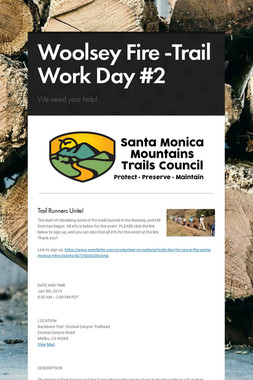 Woolsey Fire -Trail Work Day #2