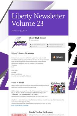 Liberty Newsletter Volume 23