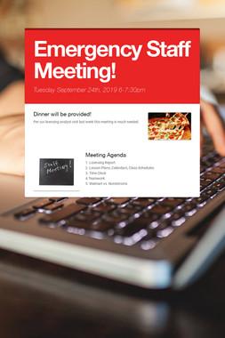 Staff Meeting Tonight!