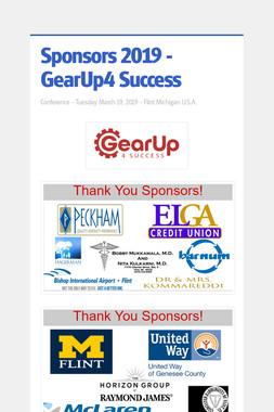 Sponsors 2019 - GearUp4 Success
