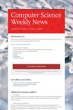 Computer Science Weekly News