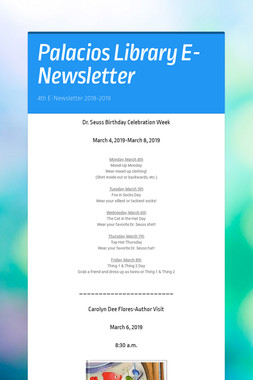 Palacios Library E-Newsletter