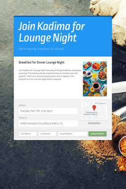 Join Kadima for Lounge Night