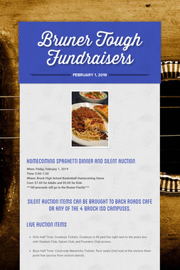 Bruner Tough Fundraisers
