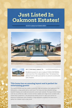 Just Listed In Oakmont Estates!