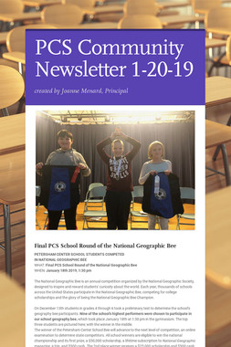 PCS Community Newsletter 1-20-19
