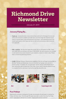 Richmond Drive Newsletter