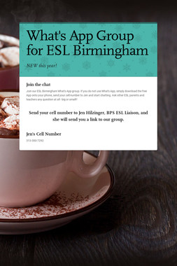 What's App Group for ESL Birmingham