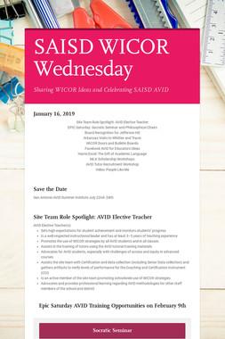 SAISD WICOR Wednesday