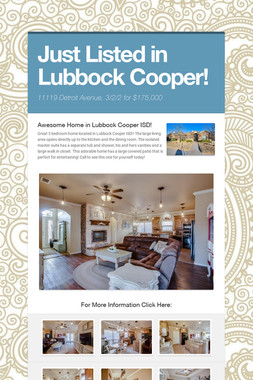 Just Listed in Lubbock Cooper!