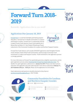 Forward Turn 2018-2019