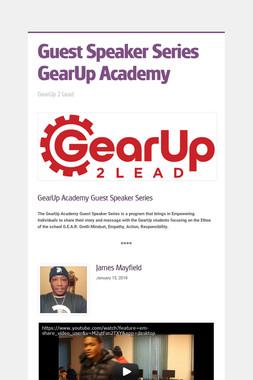 Guest Speaker Series GearUp Academy
