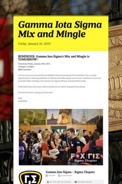 Gamma Iota Sigma Mix and Mingle