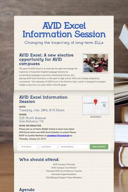 AVID Excel Information Session