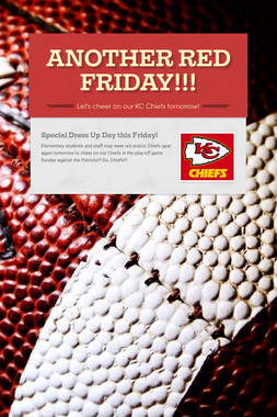 ANOTHER RED FRIDAY!!!
