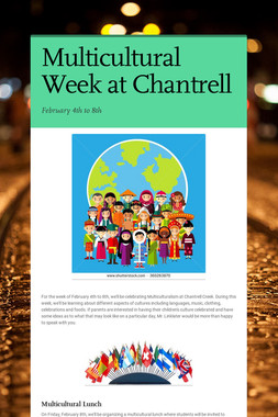 Multicultural Week at Chantrell