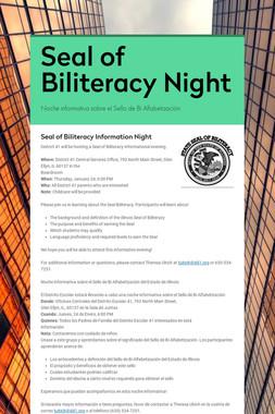Seal of Biliteracy Night