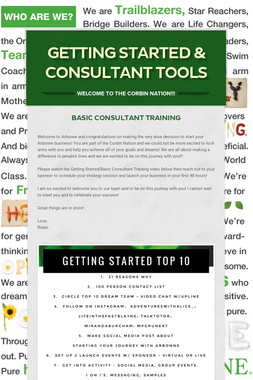 Getting Started & Consultant Tools