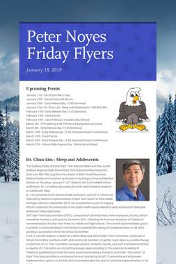 Peter Noyes Friday Flyers