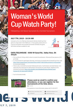 Woman's World Cup Watch Party!