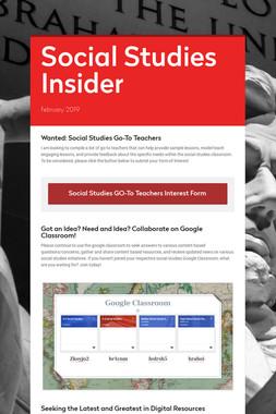 Social Studies Insider