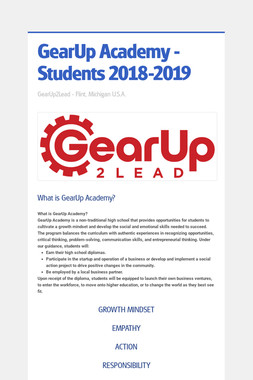 GearUp Academy - Students 2018-2019