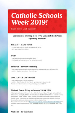 Catholic Schools Week 2019!