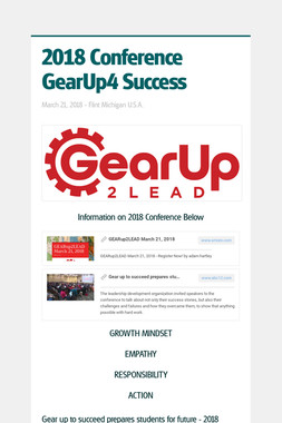 2018 Conference GearUp4 Success