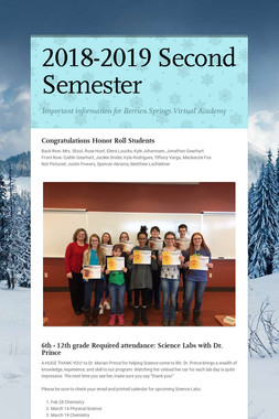2018-2019 Second Semester