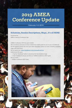 2019 AMEA Conference Update