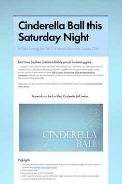 """You're invited to """"Cinderella Ball"""""""