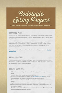 Codologie Spring Project