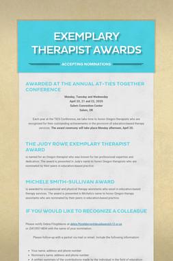 Exemplary Therapist Awards