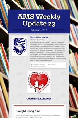AMS Weekly Update 23