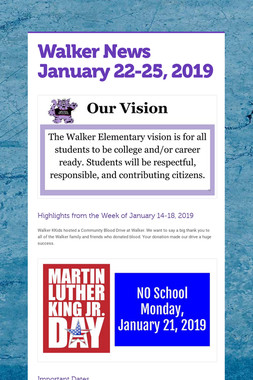 Walker News January 22-25, 2019