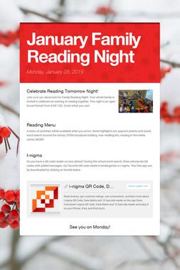 January Family Reading Night
