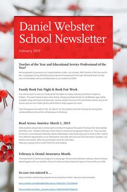 Daniel Webster School Newsletter