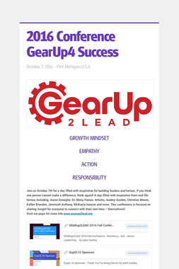 2016 Conference  GearUp4 Success